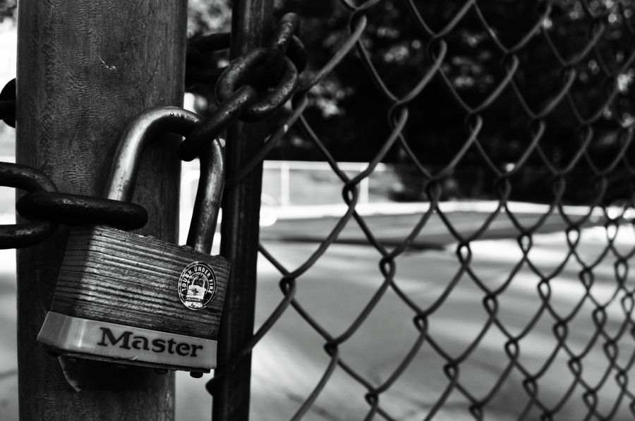 Lock Black & White